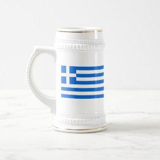 ギリシャの旗の~の地図のマグ ビールジョッキ