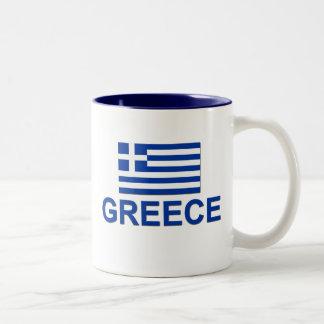 ギリシャの旗1 ツートーンマグカップ