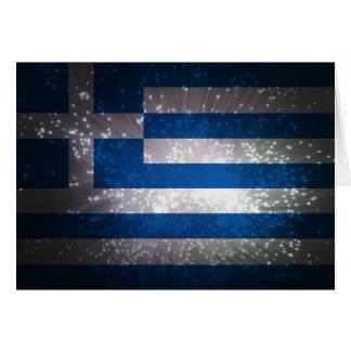ギリシャの旗 カード