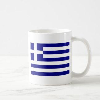 ギリシャの旗 コーヒーマグカップ