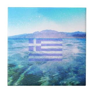 ギリシャの旗 タイル