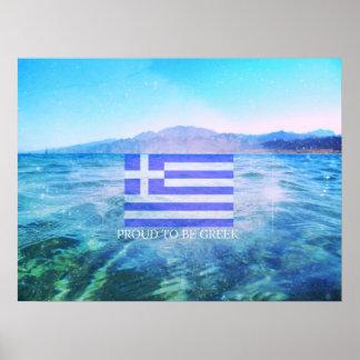 ギリシャの旗 ポスター
