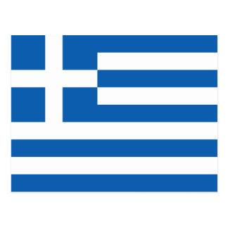 ギリシャの旗 ポストカード
