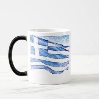ギリシャの旗 マジックマグカップ