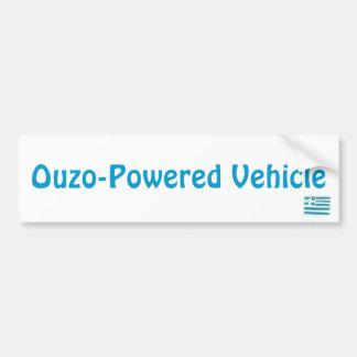 ギリシャの旗、Ouzo動力車 バンパーステッカー