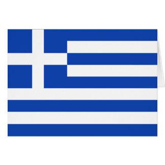 ギリシャの旗Notecard カード