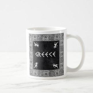 ギリシャの正方形パターン コーヒーマグカップ