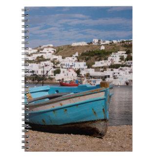 ギリシャの漁船との港および港区域 ノートブック