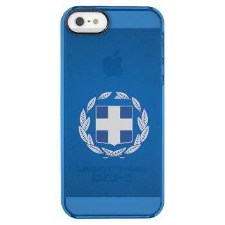 ギリシャの紋章付き外衣 クリア iPhone SE/5/5sケース