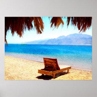 ギリシャの美しいビーチ ポスター