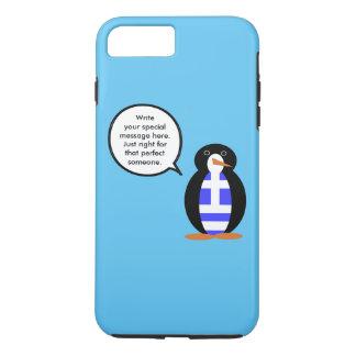 ギリシャの話すペンギンの旗 iPhone 8 PLUS/7 PLUSケース