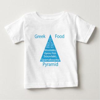 ギリシャの食糧ピラミッド ベビーTシャツ