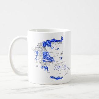 ギリシャのeTextの~のFlagcolorの地図のマグ コーヒーマグカップ