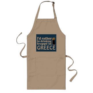 ギリシャのFrappé ロングエプロン