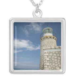 ギリシャのIonian島、ZAKYNTHOSの岬SKINARI: シルバープレートネックレス