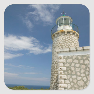 ギリシャのIonian島、ZAKYNTHOSの岬SKINARI: スクエアシール