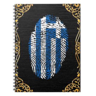 ギリシャのtouchの指紋の旗 ノートブック