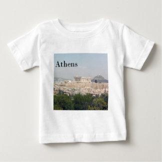 ギリシャアテネのアクロポリス ベビーTシャツ