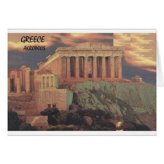 ギリシャアテネのパルテノンの雲(St.K) カード