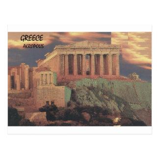 ギリシャアテネのパルテノンの雲(St.K) ポストカード