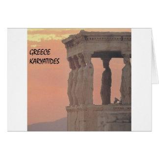 ギリシャアテネのパルテノンKaryatides (St.K) カード