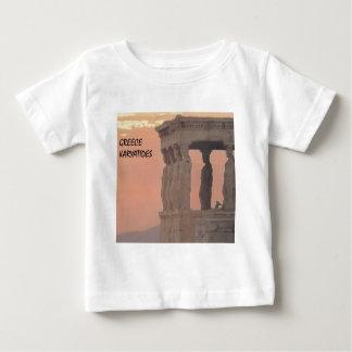 ギリシャアテネのパルテノンKaryatides (St.K) ベビーTシャツ