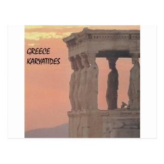 ギリシャアテネのパルテノンKaryatides (St.K) ポストカード