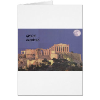 ギリシャアテネAkropolisのパルテノン(St.K) カード