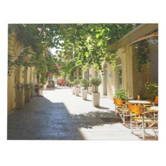ギリシャコルフ島の通り、メモ帳 ノートパッド