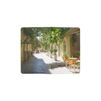 ギリシャコルフ島の通り、小型ノート ポケットMoleskineノートブック
