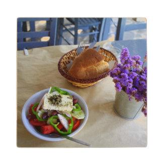 ギリシャサラダ ウッドコースター