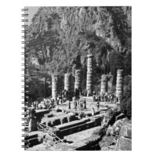 ギリシャデルファイアポロの寺院1970年 ノートブック