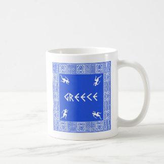 ギリシャパターン コーヒーマグカップ