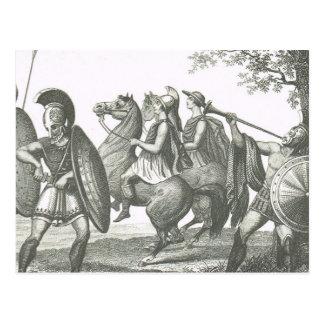 ギリシャ人およびEtruscanの戦士 ポストカード