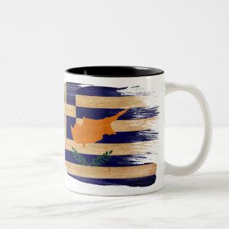 ギリシャ人のキプロスの旗のマグ ツートーンマグカップ