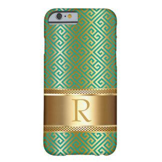 ギリシャ人の主モノグラムはあなたの色|の金ゴールドホイルを選びます BARELY THERE iPhone 6 ケース