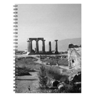 ギリシャ古代コリントアポロの寺院1970年 ノートブック