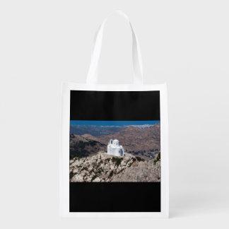 ギリシャ山の孤独な教会 エコバッグ