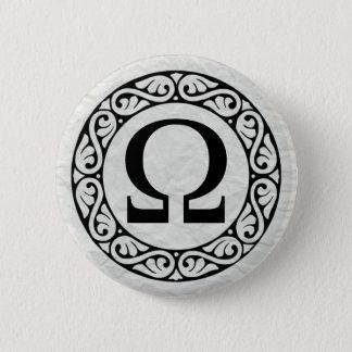 ギリシャ文字の手紙オメガ 缶バッジ