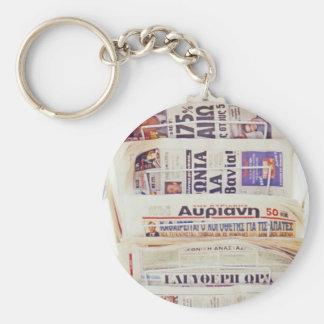 ギリシャ新聞 キーホルダー