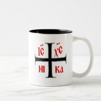 ギリシャ正教の十字 ツートーンマグカップ