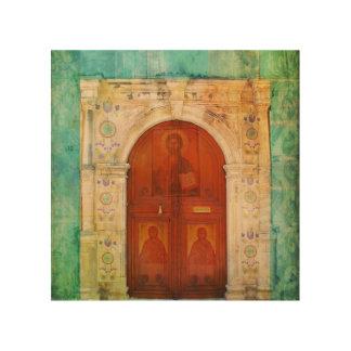 ギリシャ正教イエス・キリストアイコンドア ウッドウォールアート