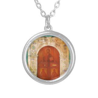 ギリシャ正教イエス・キリストアイコンドア シルバープレートネックレス