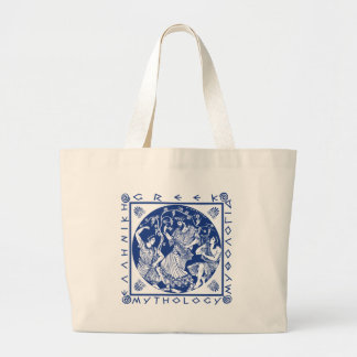 ギリシャ神話-青 ラージトートバッグ