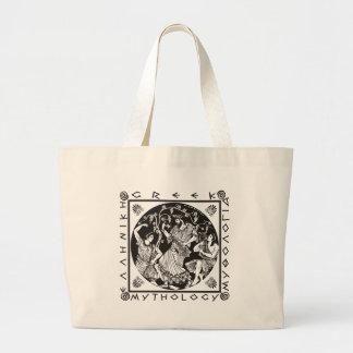 ギリシャ神話-黒 ラージトートバッグ