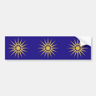 ギリシャ語マケドニア、ギリシャの旗 バンパーステッカー