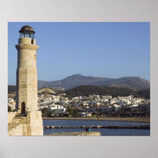 ギリシャ、クレタのRethymnoの地域、Rethymno: ポスター