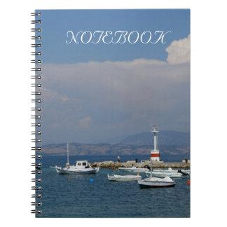 ギリシャ、コルフ島の古い灯台、ノート ノートブック
