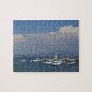 ギリシャ、コルフ島の古い灯台、パズル ジグソーパズル