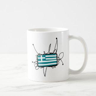 ギリシャ コーヒーマグカップ